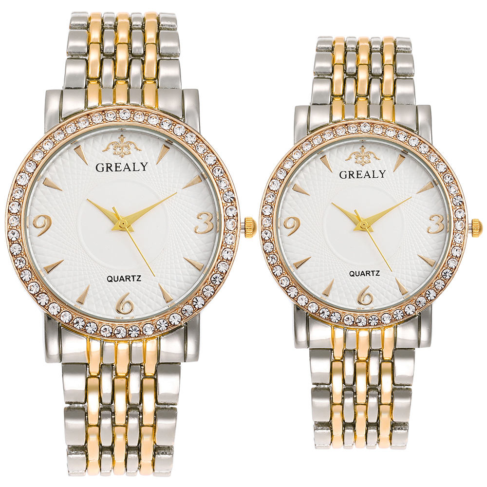 Men's Wristwatches Women's Quartz Watches 2019 Fashion Couple Watches Diamond Watch Dial Top Hot Style