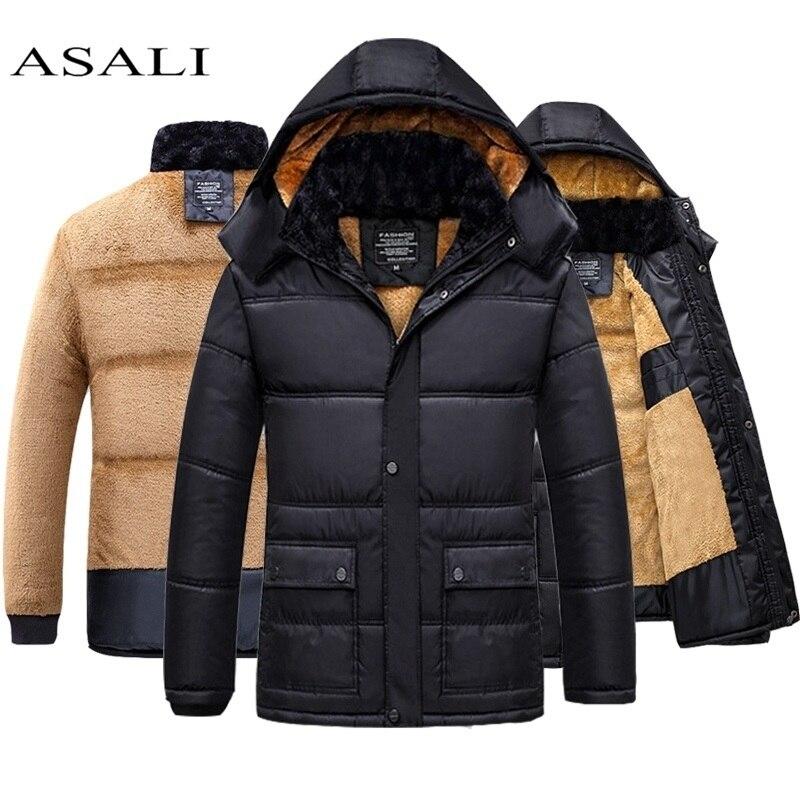 Jacket Men Hooded Windproof 2019 New Arrival Warm WinterHooded Casual Slim Mens Parka Winter Coat British Style Coats Jacket