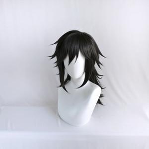 Image 2 - Anime Demon Slayer Kimetsu no Yaiba Tomioka Giyuu Black Ponytail Cosplay Wig Men Women Heat Resistant Synthetic Hair Wigs
