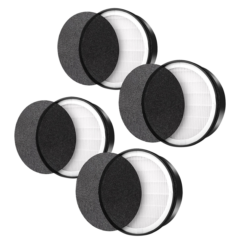 4 Pack Filter Compatible for Levoit LV-H132 LV-H132-RF Air Purifier, True HEPA and Activated Carbon Filter Set