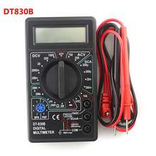 Dt830b display lcd multímetro digital voltímetro amperímetro ohmímetro dc10v test 1000v 10a 750v teste de testador