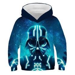 Outono 3d star wars hoodies para meninas adolescentes impressão crianças camisolas trajes cosplay roupas do bebê menino mandalorian casaco casual