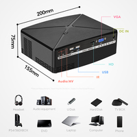 AUN MINI Projector C80UP, 1280x720P Resolution, Android WIFI Proyector, LED Portable 3D Beamer for 4K Home Cinema, Optional C80 5
