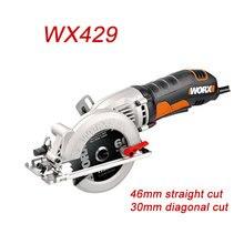 Mini tronçonneuse wx429 mise à jour de wx423 scie circulaire scie électrique meuleuse dangle à main charpentier coupe guide cutter