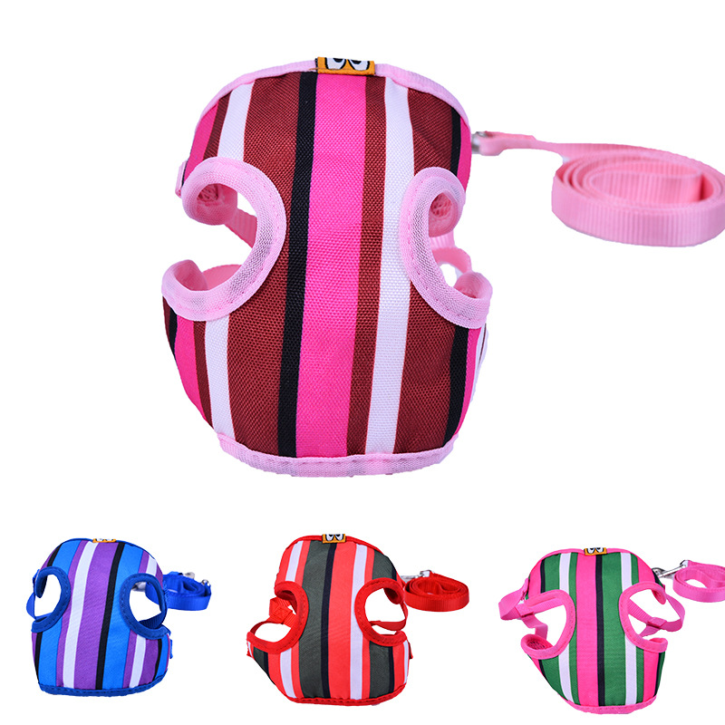 Vertical Stripe Color Chest And Back New Style Pet Strap Dog Hand Holding Rope Pet Supplies Hand Holding Rope
