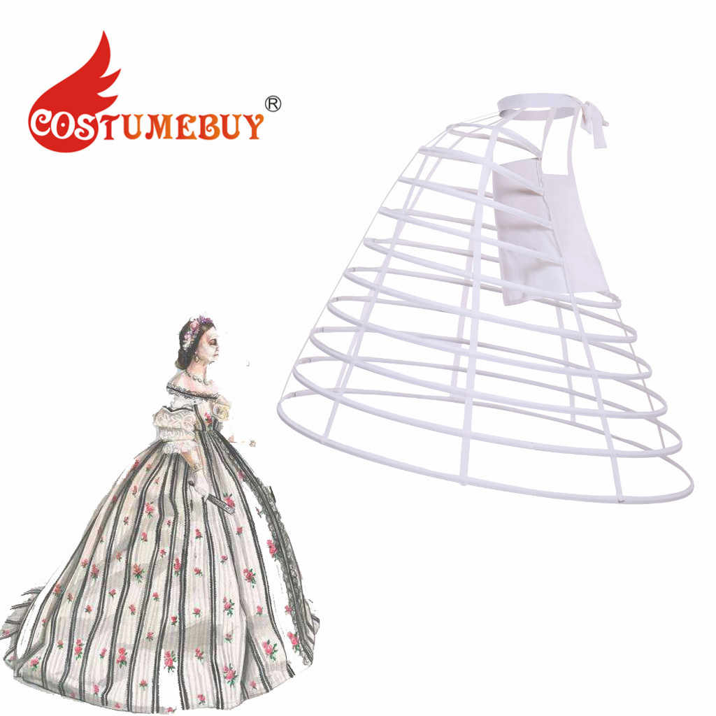Women Rococo Dress Double Panniers Victorian Dress Petticoat Crinoline Bustle