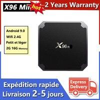 Miglior X96 Mini Android 9.0 Smart TV Box IPTV Box 1G 8G 2G 16G X96 lettore multimediale Smart IP TV Set Top Box nave dalla francia