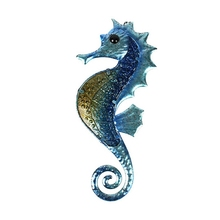 Garden Artwork of Metal Seahorse Wall Decoration w