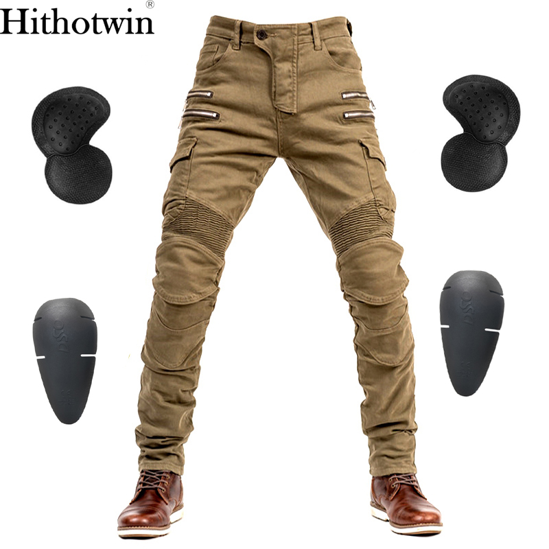 Hi-07 Motorcycle Pants Men Moto Jeans Protective Gear Riding Touring Motorbike Trousers Zip pocket Motocross Pants Moto Pants