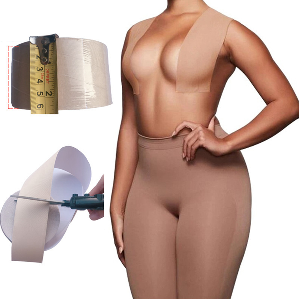 1 Roll 5M Boob Tape Women Breast Nipple Covers Push Up Bra Body Invisible Breast Lift Tape Adhesive Bras Intimates Sexy Bralette