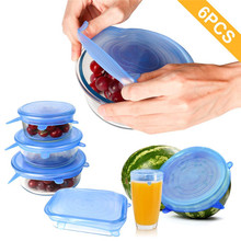Lids Cover-Pan Spill-Lid-Stopper Stretch-Suction-Cover Cooking-Pot Home-Bowl-Cover Universal