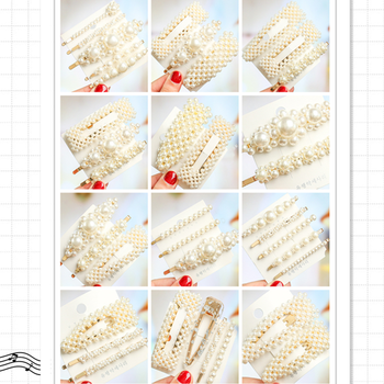 1/2/3Pcs/set Trendy Imitation Pearl Hair Clips Women Handmade Hair Barrette Beads Flower Stick Hairpin Hair Styling Accessories ubuhle fashion women full pearl hair clip girls hair barrette hairpin hair elegant design sweet hair jewelry accessories 2019