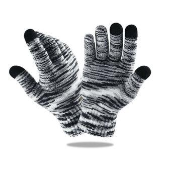 цена на Goocheer Unisex Winter Knit Capacitive Touch Screen Gloves For Smart Phone Tablet Full Finger Mittens Knitting Hand-Warmer