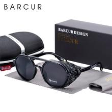 BARCUR Original Round Sunglasses Men Women UV400 Protection Gradient Vintage Ste