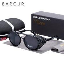 Мужские и женские солнцезащитные очки barcur круглые винтажные