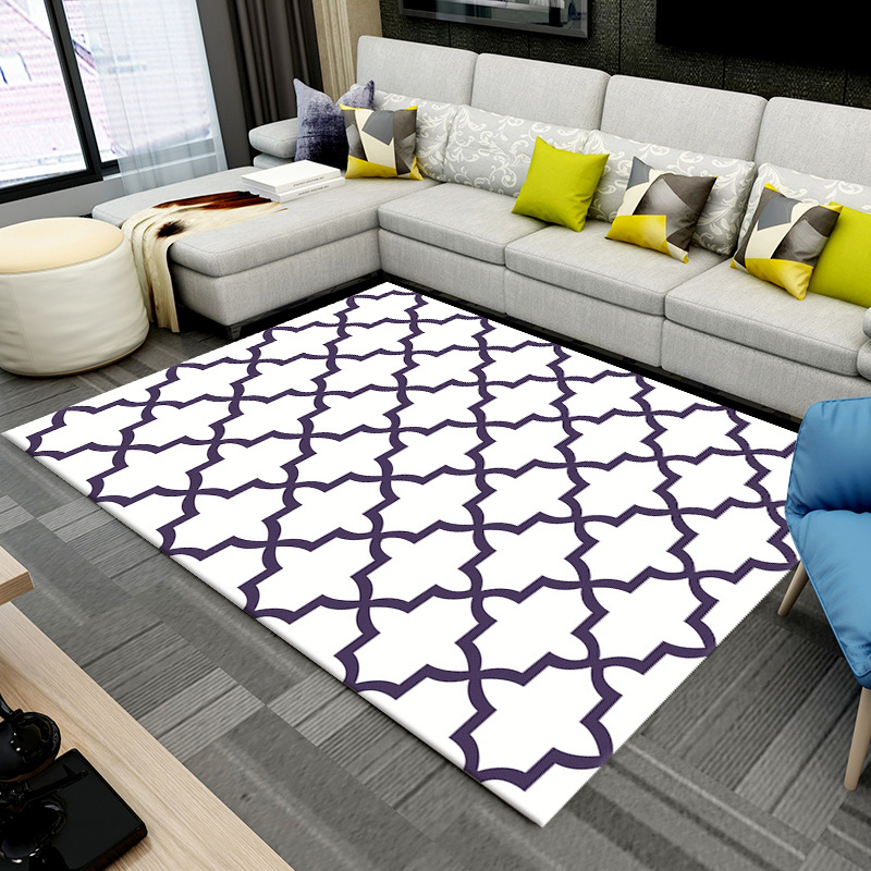 Modern Morocco Style Geometric Plaid Carpet Non-slip Large Size Ara Carpets Rug For Living Room Floor Child Kids Play Mat