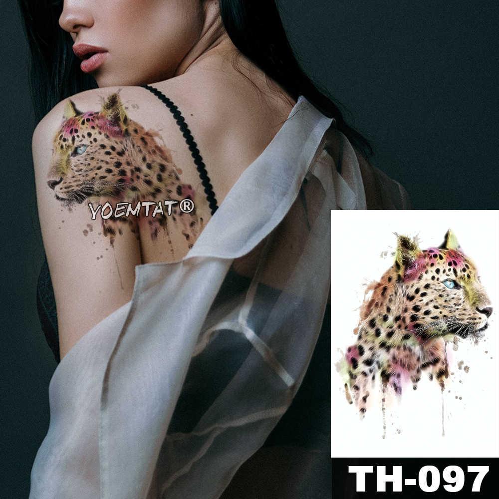 방수 임시 문신 스티커 로즈 올빼미 덩굴 패턴 유방 sternum 어깨 바디 아트 가짜 문신 아래 물 전송