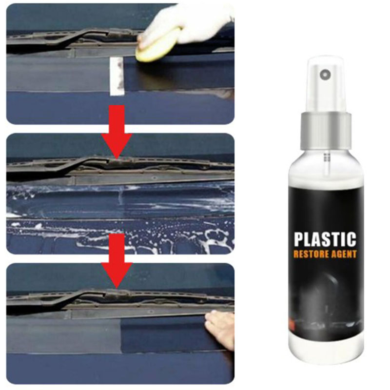 Plastic Restore 30 50 100ml Plastic Retreading Agent Automotive Interior Auto Plastic Renovated Coating Paste Maintenance Agent