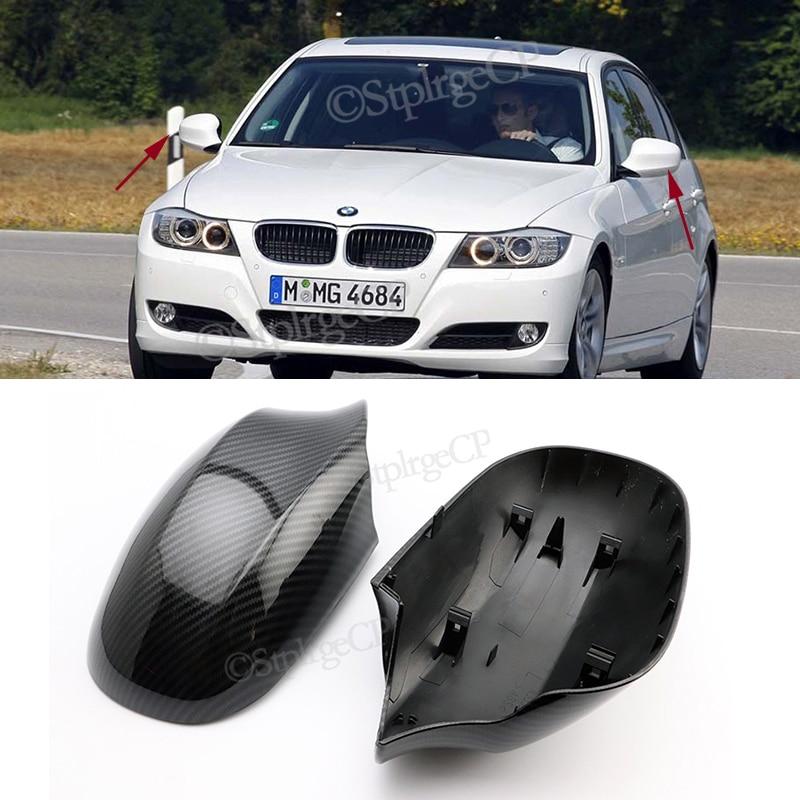 Для BMW 3 серии E90 E91 LCI рестайлинг 2009 2010 2011 2012 зеркало заднего вида из углеродного волокна глянцевый черный зеркальный чехол