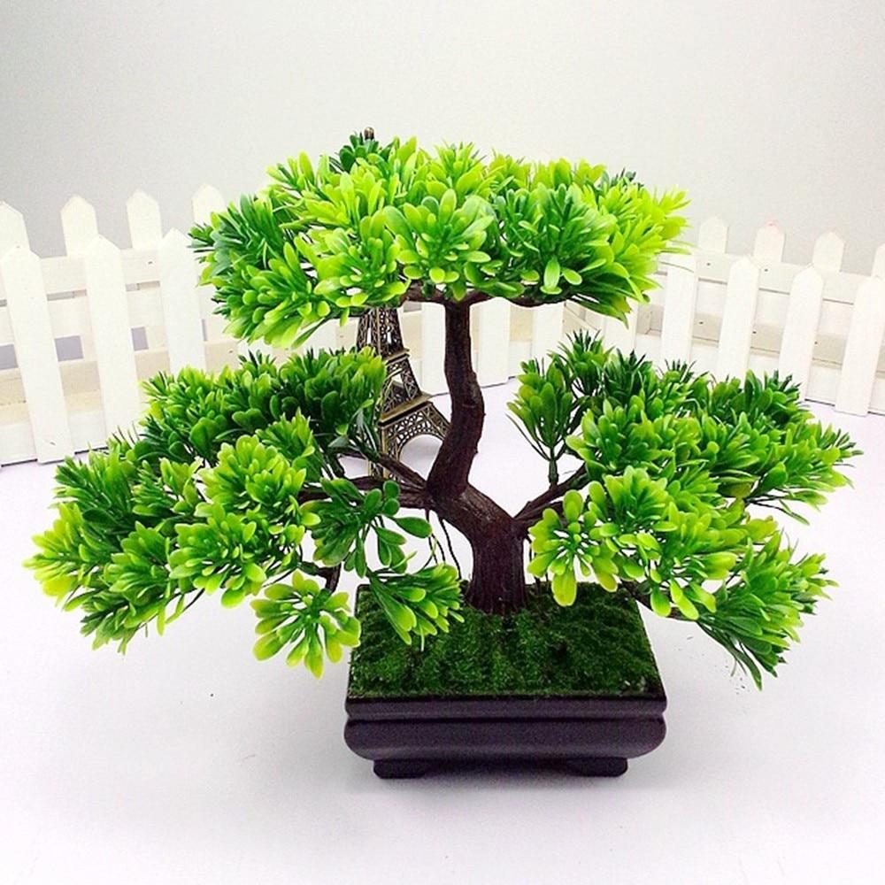 Simulasi Tanaman Buatan Bonsai Pohon Dekorasi Aquarium Tanaman Plastik Hijau Pinus Ornamen Rumah Taman Dekorasi Tanaman Buatan Aliexpress