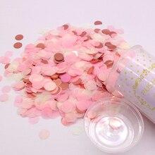 1 Набор, розовые конфетти-попперы для свадьбы с днем рождения, бумажные Мини Круглые Конфетти в горошек, вечерние украшения
