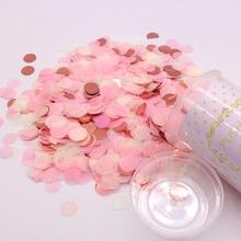 1 סט Push פופ ורוד קונפטי פופרס לחתונה שמח יום הולדת פרח נייר מיני עגול קונפטי נקודות המפלגה קישוט