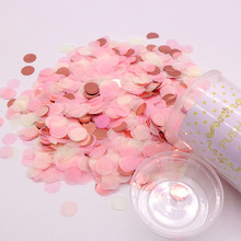 1 Set Push Pop Pink Confetti Poppers for Wedding Happy Birthday Flower Paper Mini Round Confetti Dots Party Decoration
