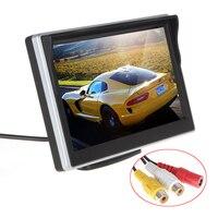 Monitor de visión trasera de coche, cámara de estacionamiento de respaldo con pantalla LCD giratoria de 5 pulgadas TFT, visión nocturna