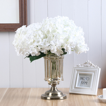 5 Heads Wedding Artificial Hydrangea Silk Flowers With Stems For Home Party Shop Baby Shower Decor Fake Room Decoration