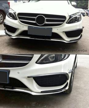 Modified carbon fiber Wind knife 6-piece set, front bumper trim, Fit For Mercedes-Benz C-class W205 sports model 2015-2021  M089 1