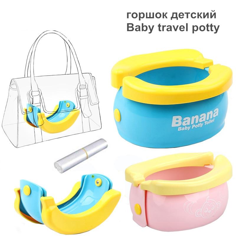 Kids Portable Toilet Training Baby Potty For Kids Bebe Pot Children's Travel Potty Training Seat For Toilet Boys Girls Infantil