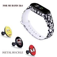 Для Mi band 4 3 ремешок силиконовый ремешок с принтом для Xiaomi Mi Band 3 Заменить браслет камуфляж для браслета Mi band 4