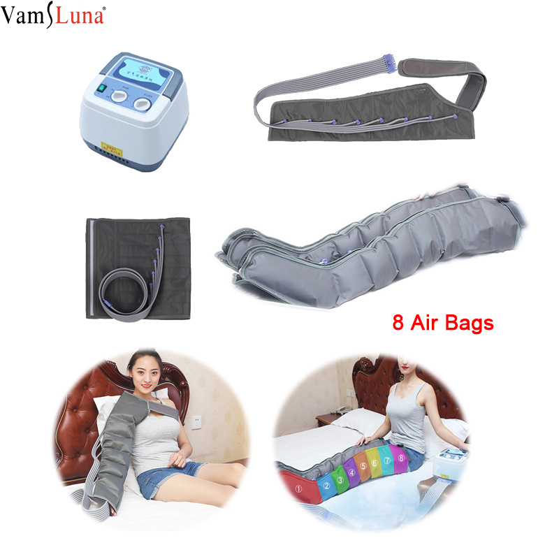 Air Compression With 8 Chambers Leg Arm Waist Vibration Massager Pneumatic Wraps Masaage Relax And Promote Blood Circulation