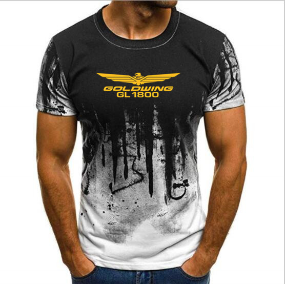 2019 High Quality S-4XL T-shirt  Mens Fashion Brand Goldwing GL1800 Motorcycle Printed T Shirt In T Shirt Auto Tshirt