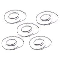 Dwcx 10 pçs prata aço inoxidável pequeno & grande ajustável eixo cv joint boot friso grampos kits universal CV e peças     -