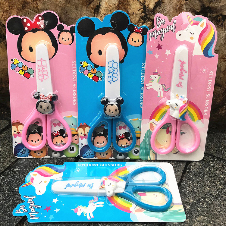 Flame Unicorn Student Safety Scissor Knife Cover Office School Supplies Children's Stationery Store