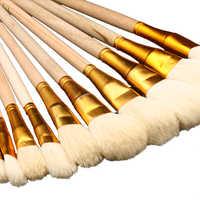 Wolle Pinsel Sweep Gold Blatt Silber Folie, pinsel Kleber, Schönheit Make-Up Pinsel, EIN Set von Hohe Qualität DIY Vergoldung Blätter Werkzeuge Holz Pinsel