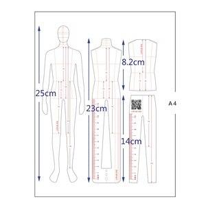 Image 5 - זכר אופנה שליט בגד עיצוב אפקט סגנון גברים ציור תבנית שליט מקורי עיצוב דגם 25cm גובה