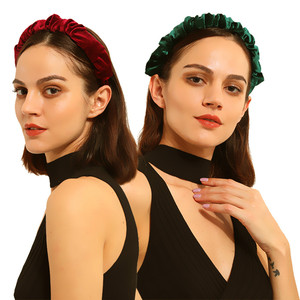 hair hoops retro headband hair ornament  Hairband Hair Accessories for Girls No Slip Stay on Knotted Head band Hair Band Women