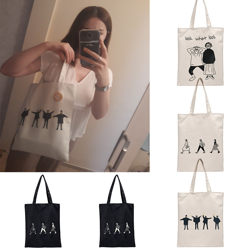 2019 Shopping Bags Shopping Eco Reusable Foldable Shoulder Bag Handbag Tote Bag Casual Shoulder Bags Travel Women Folding in Shopping Bags from Luggage Bags