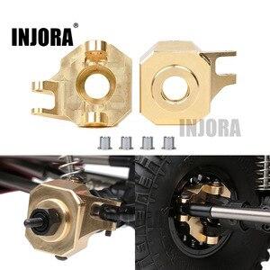 INJORA 2 шт. латунные передние ар44 кулаки руля для 1/10 RC Гусеничный осевой SCX10 II 90046 Запчасти для обновления