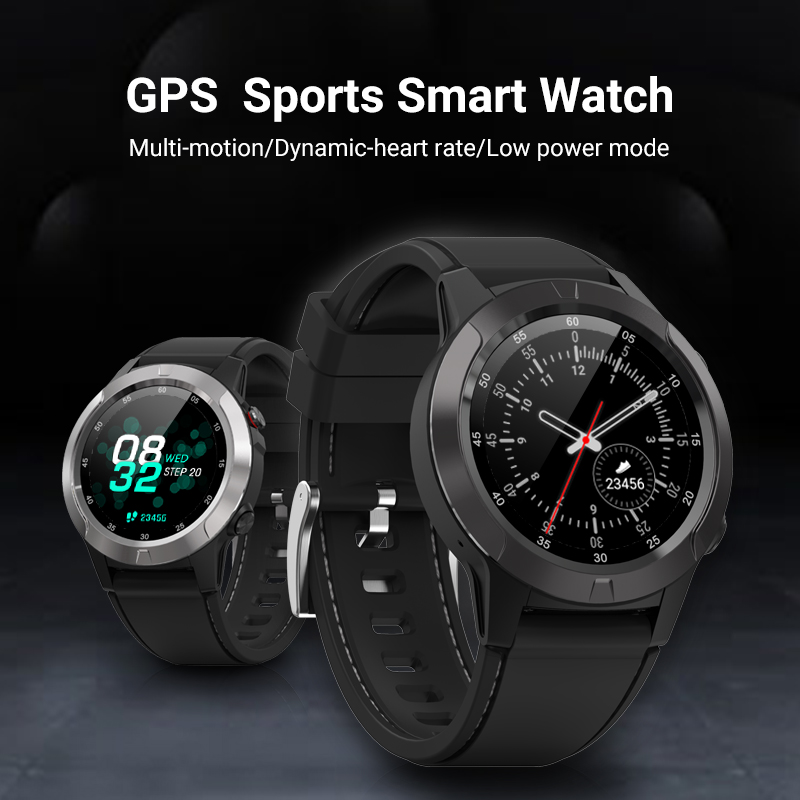 M4 GPS Smart Watch Bluetooth Call 1.3-inch IPS Touch Full Screen Sports Smart Watch Wristband Heart Rate Blood Pressure Monitor