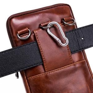 Image 5 - Neue Leder Mini Messenger Taschen für Männer Retro Business Büro Kleine Schulter Tasche Lässig Brieftasche Mini Reise Telefon Beutel #40