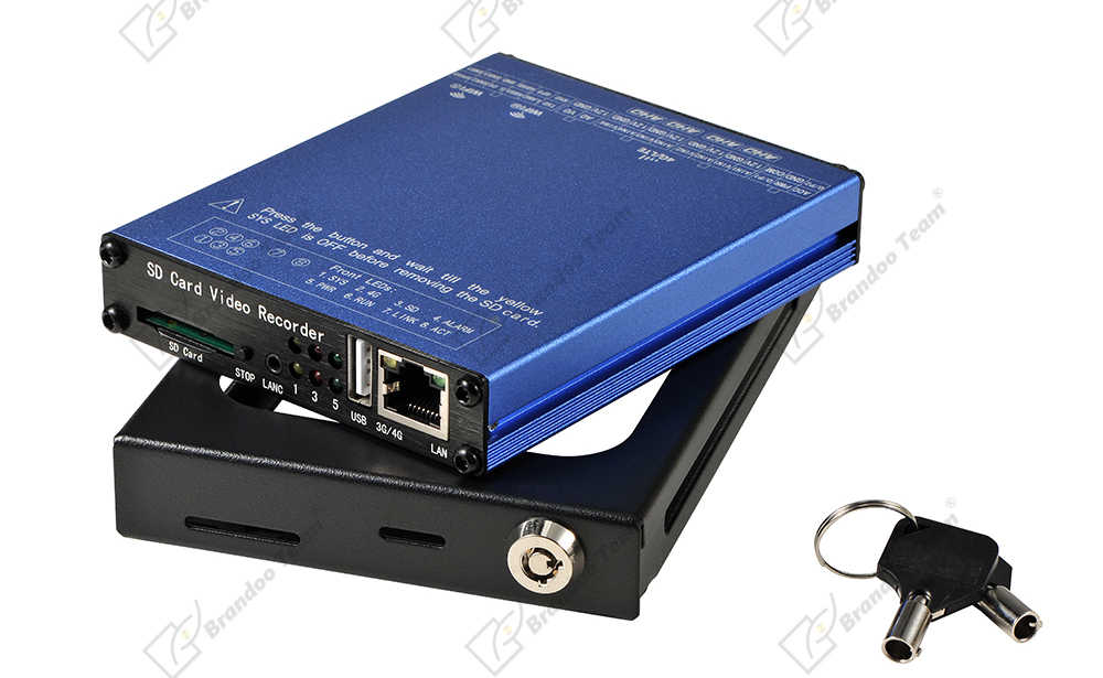 4 kanaals SD Card video recorder WIFI 4CH truck auto Bus Voertuig Mobiele DVR video surveillance ondersteuning 1080P AHD analoge Camera