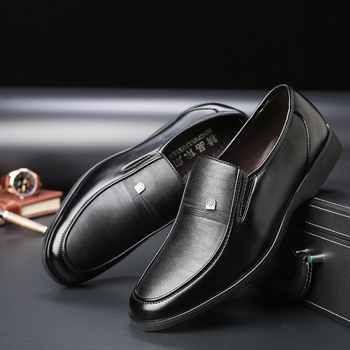 High Quality Men's Leather Shoes Autumn New Formal Men Big Size Dress Black Oxford For Zapatos De Hombre - discount item  30% OFF Men's Shoes