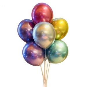 Image 2 - 10/20/30 adet gümüş pembe siyah Metal lateks balonlar helyum Globos düğün süslemeleri mutlu doğum günü partisi balon anniversaire