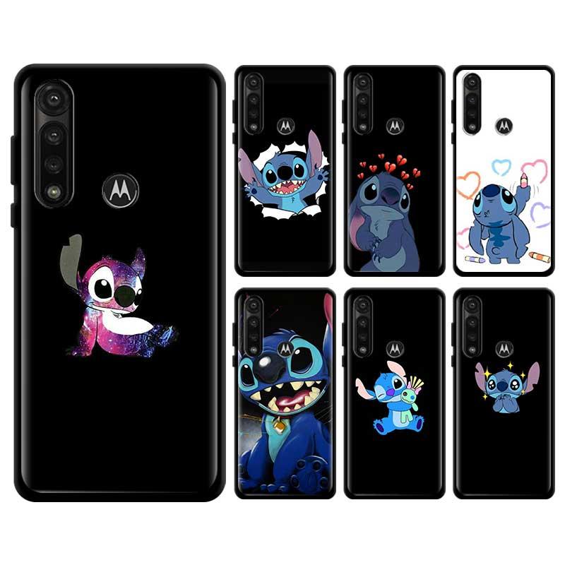 Cute Lilo Stitch Anime Soft Case For Motorola Edge Plus Moto G Stylus G8 Plue Play G Power Lite One Hyper E6s Cover