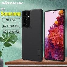 עבור Samsung S21 Ultra 5G מקרה מארז Nillkin חלבית מגן קשיח מחשב פלסטיק טלפון מלא כיסוי לגלקסי S21 בתוספת Couqe Funda