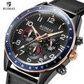 RUIMAS Luxus Quarz Uhren für Männer Military Lederband Chronograph Armbanduhr Mann Top Marke Sport Uhr Relogios Uhr 574