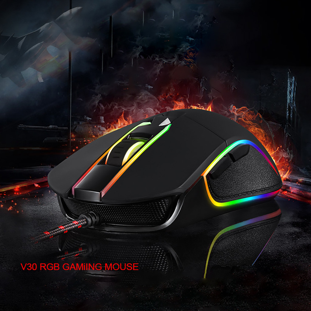 MOTOSPEED V30 Mouse Gaming 3500 DPI 6 Buttons Wired Gaming Mouse RGB Backlit Ergonomic title=